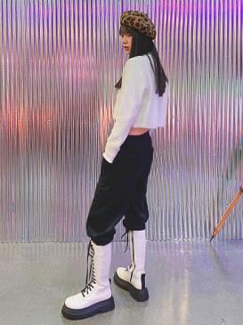 Cotton Velvet Lead Jogger Pants