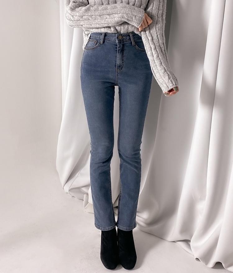 Pops straight denim trousers