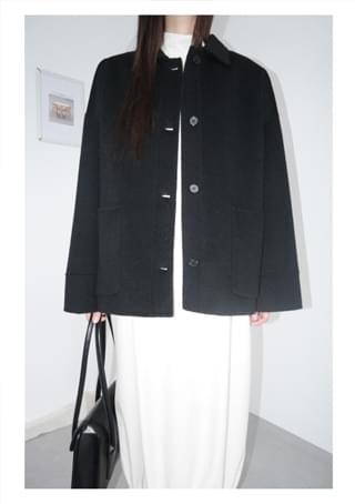 calm over handmade half coat (2c)