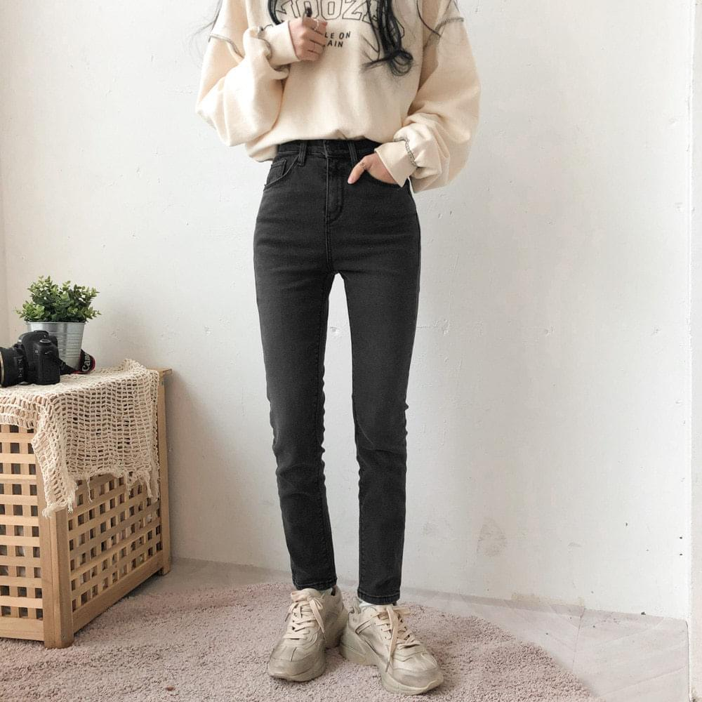 599 Basic Date Black Denim Pants