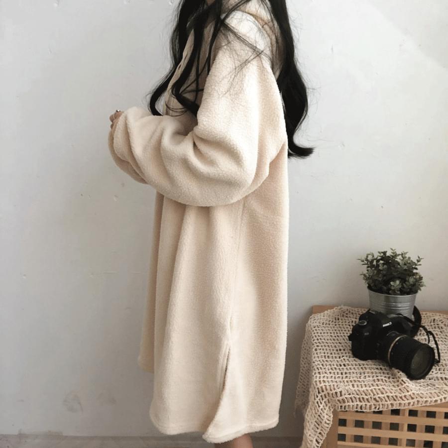 Fleece Cozy Hooded Dress