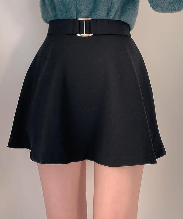 Week Buckle Flare Skirt Pants 2color