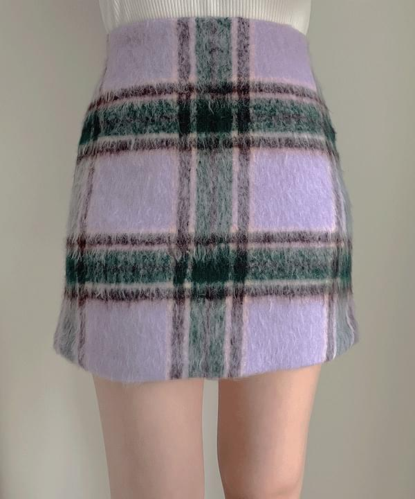 Candice check skirt 2color