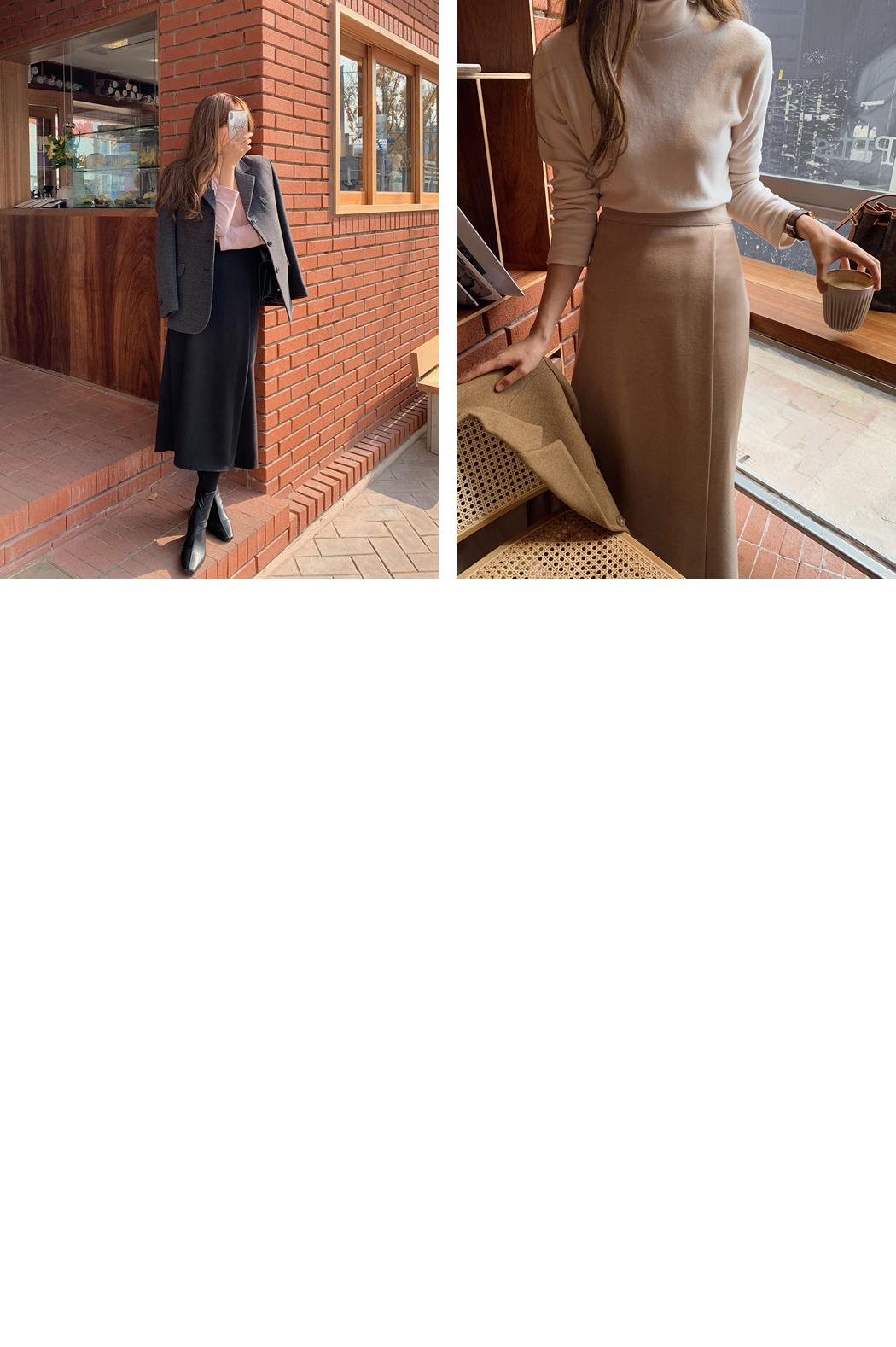 Simply Wool Layered Wrap Skirt