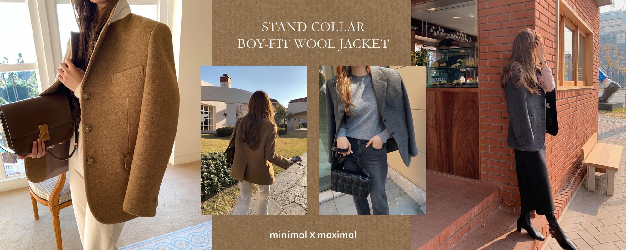 MMMM/ Stan Collar Boyfit Wool Jacket
