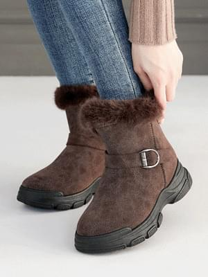 Moens Fur Boots 4cm 靴子
