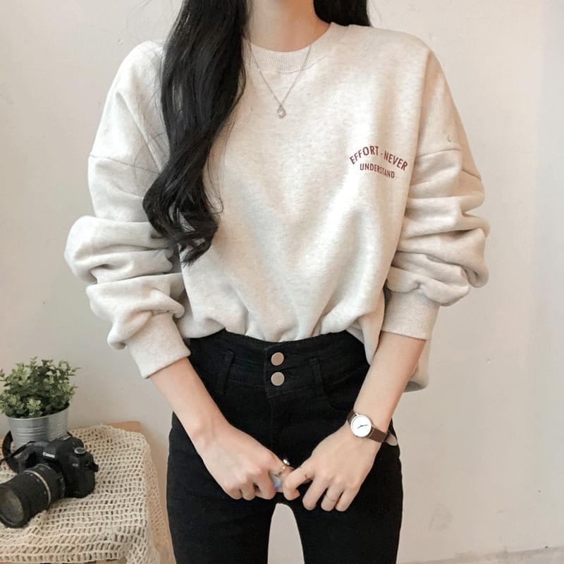 Brushed EFFORT Lettering Sweatshirt