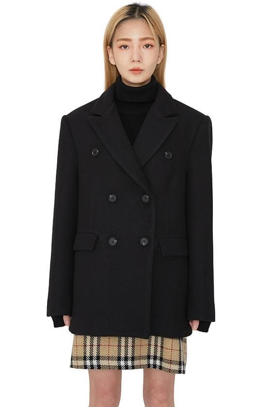 Scrap double wool half coat 大衣外套