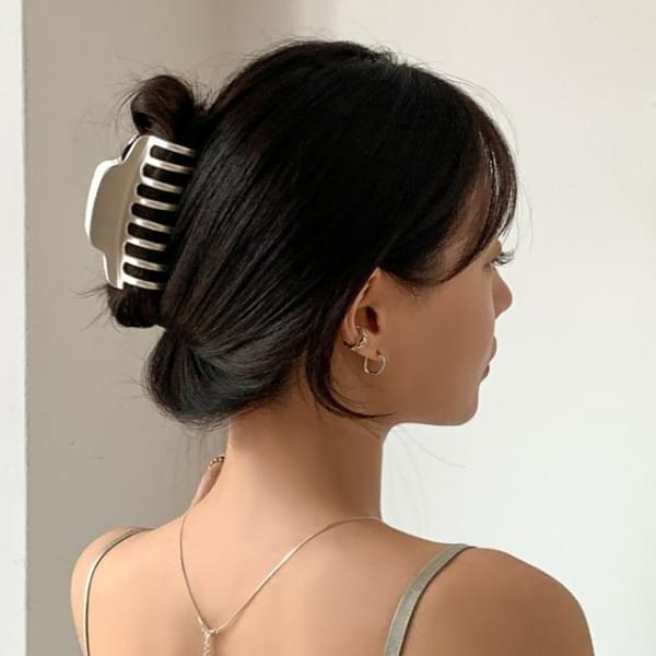 Matte Shiny Metal Hair Clip Pin 4type