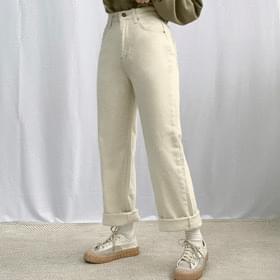 Mochi brushed straight pants