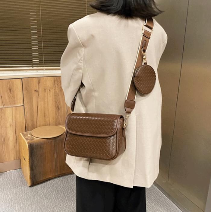 Basket Weaving Coin Purse SET Shoulder Bag