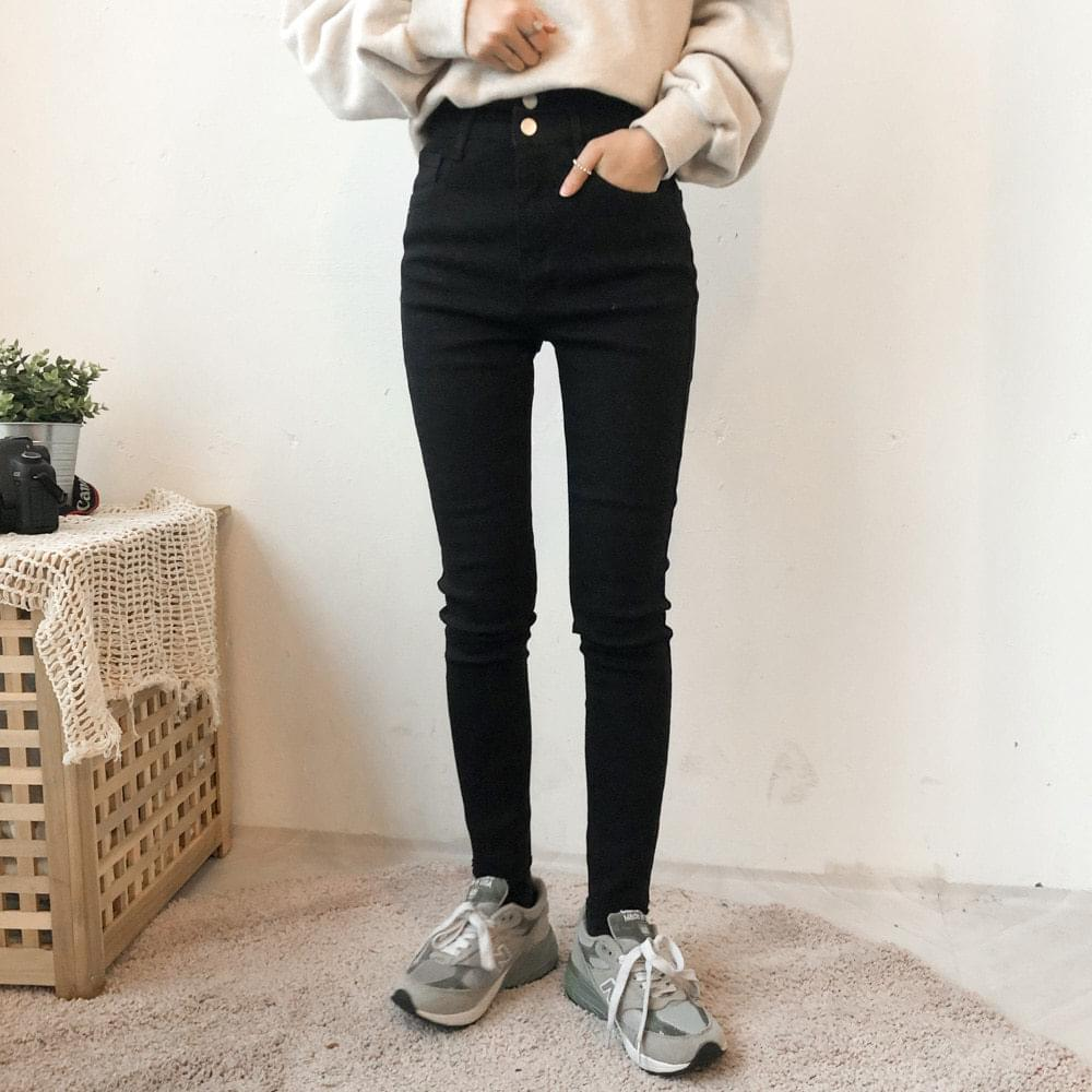 5910 two-button high skinny pants