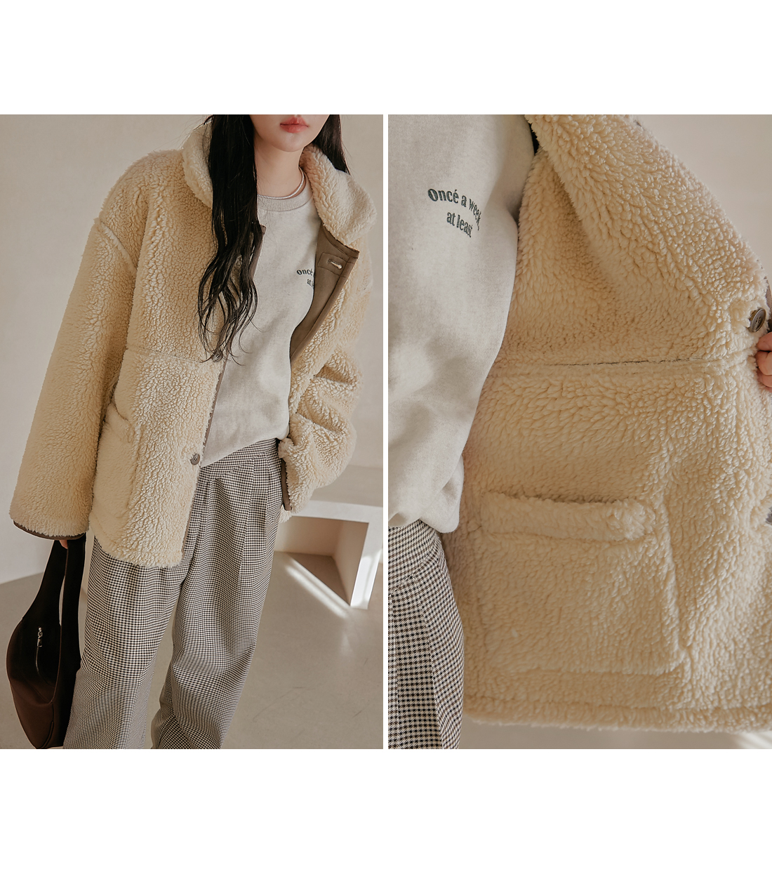 Buttoned Reversible Jacket