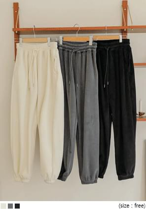 Drawstring Shirred Waist Jogger Pants