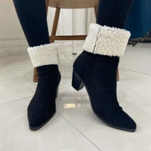 Mustang Poggly Fur Ankle Boots