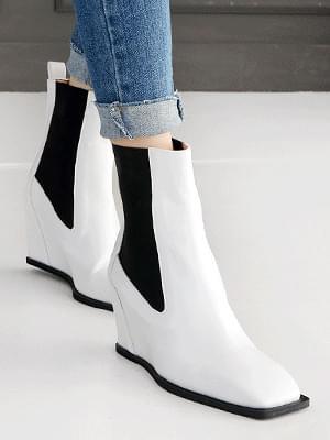 Etican wedge chelsea boots 8cm 靴子