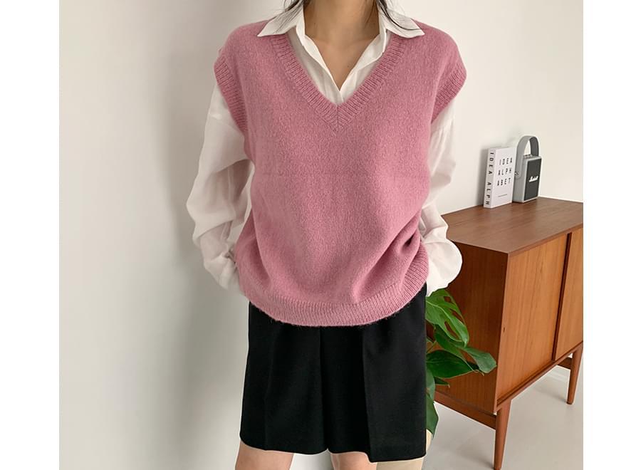 Candy Alpaca Knit vest