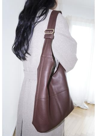 lined wearable fake leather bag
