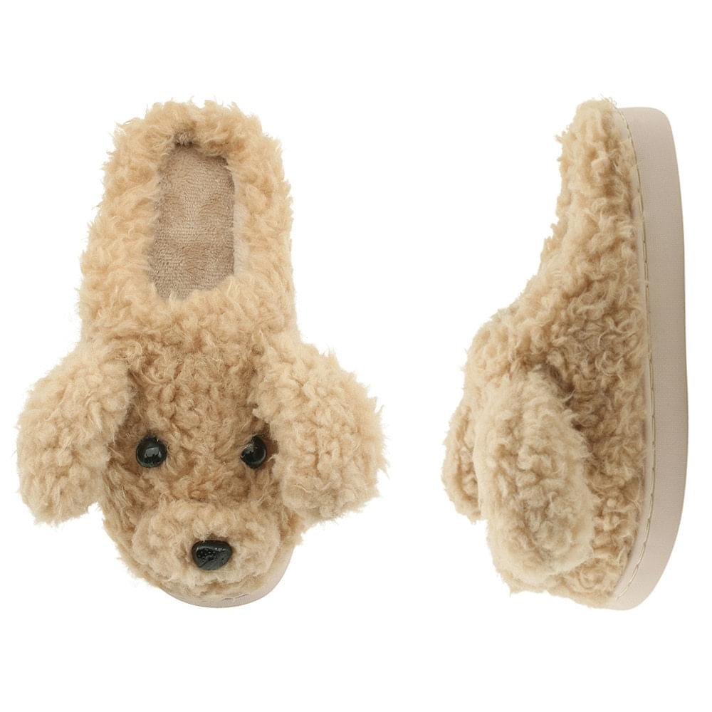 Dog fur slippers slippers beige