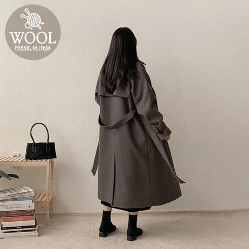 Frum Double Wool Coat