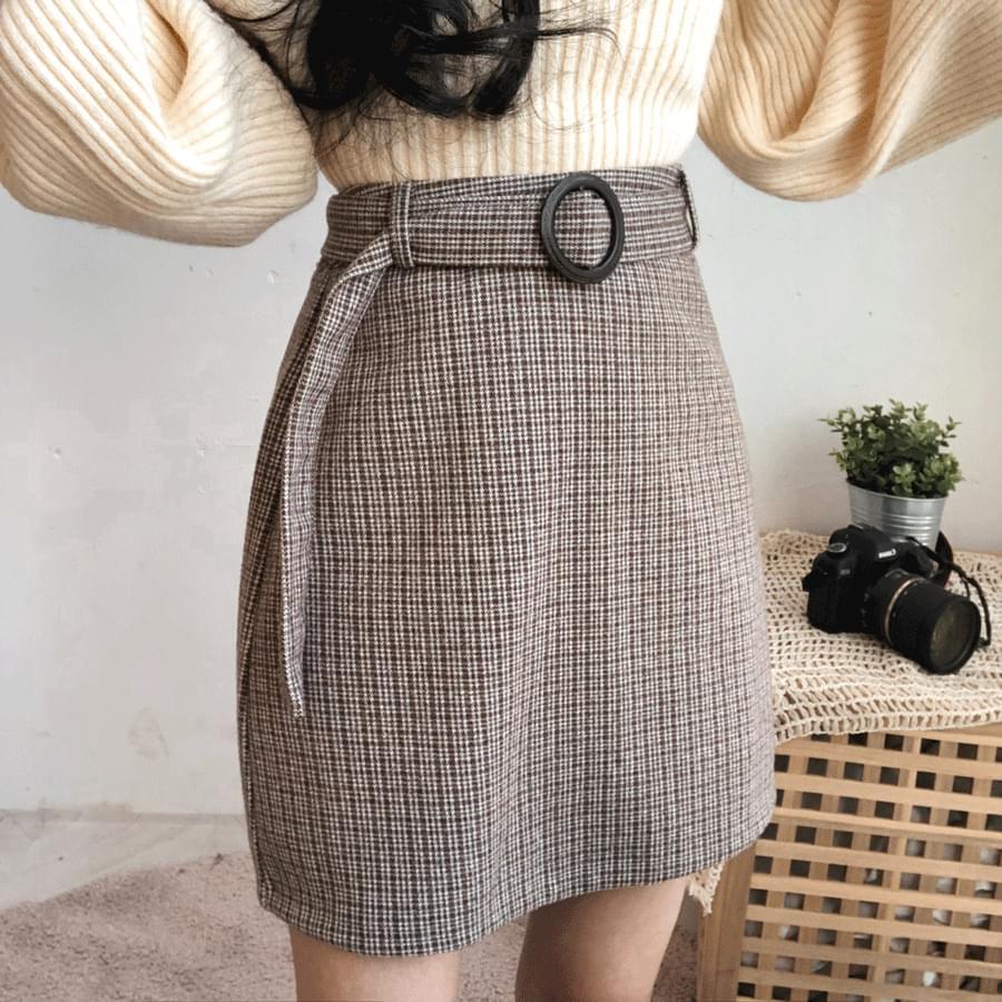 Winkle belt set mini skirt