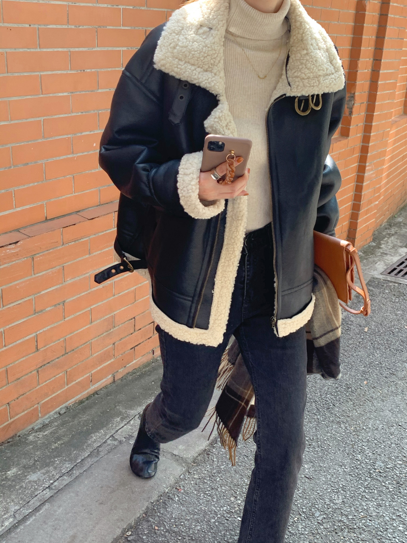 jp2975 Antry Leather Shearling
