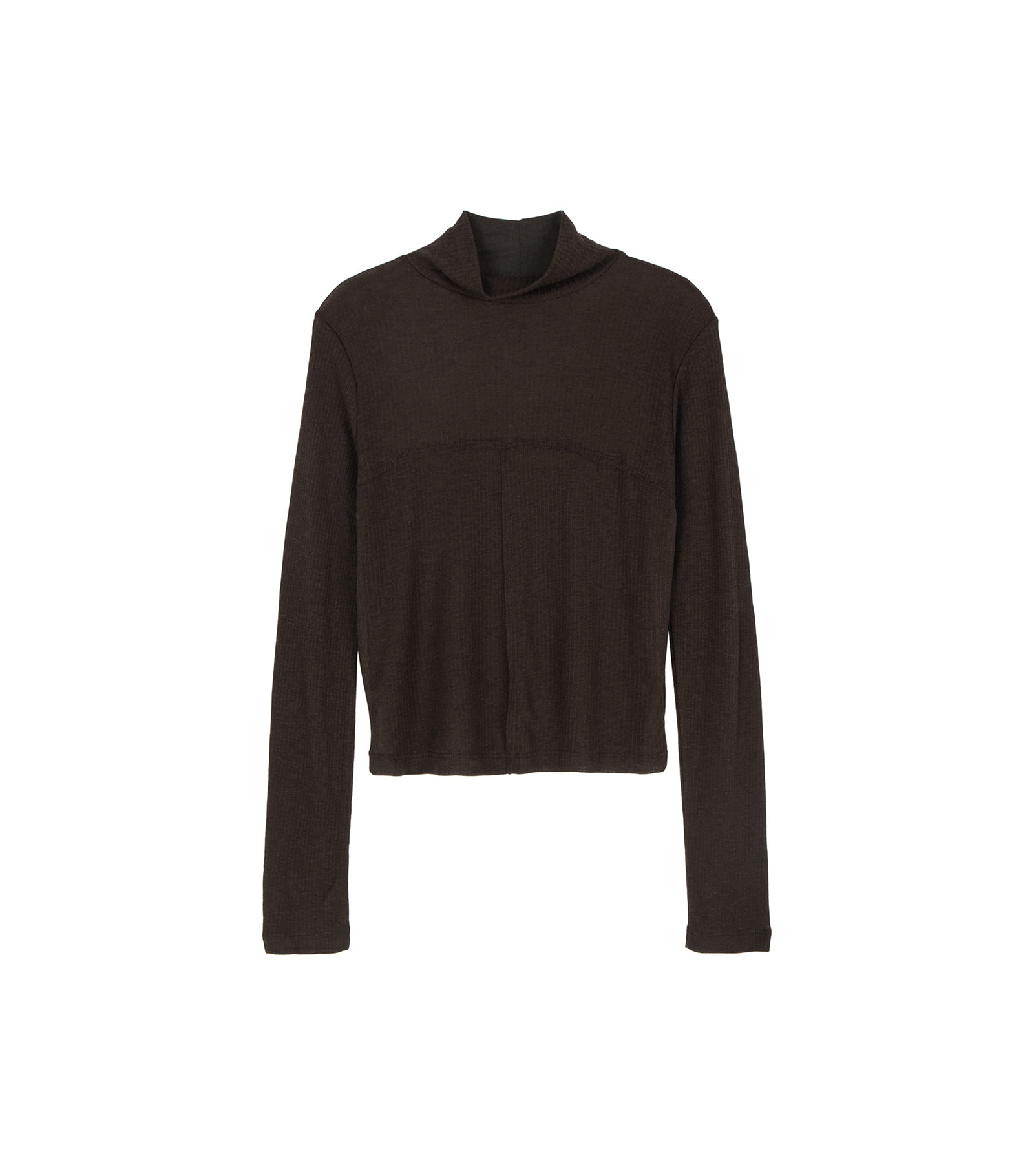 Line part slim turtleneck top