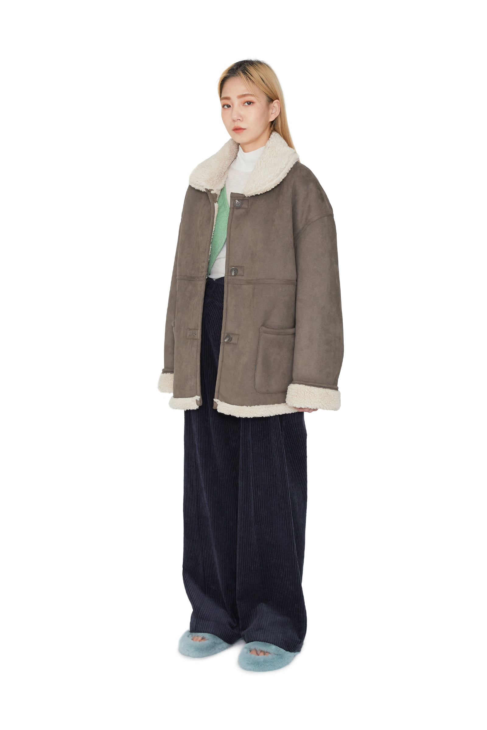 Reversible lazy half coat
