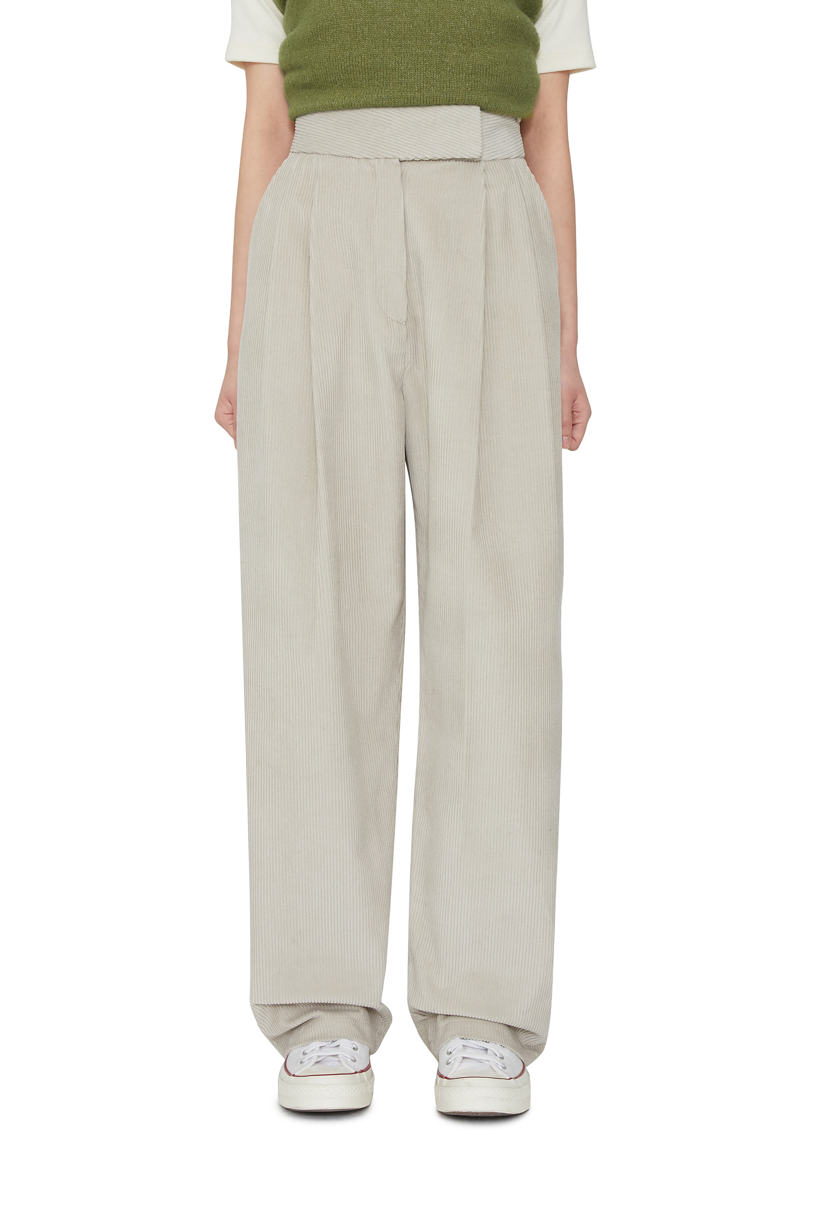 Mave corduroy wide trousers
