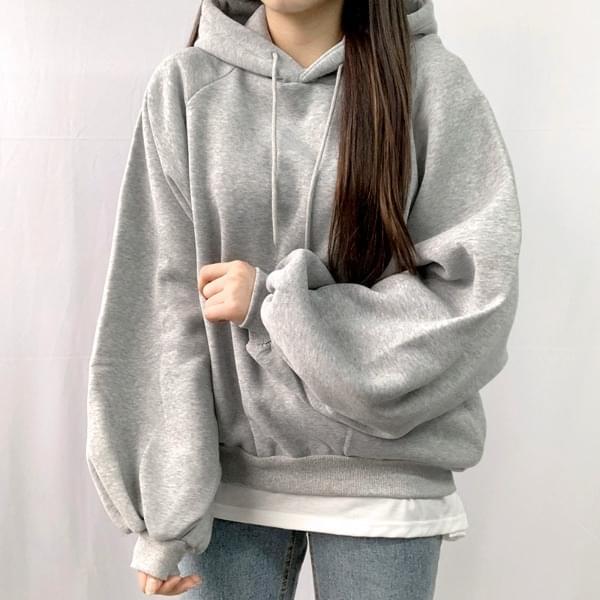 Nagrand Boxy brushed puff hoodie