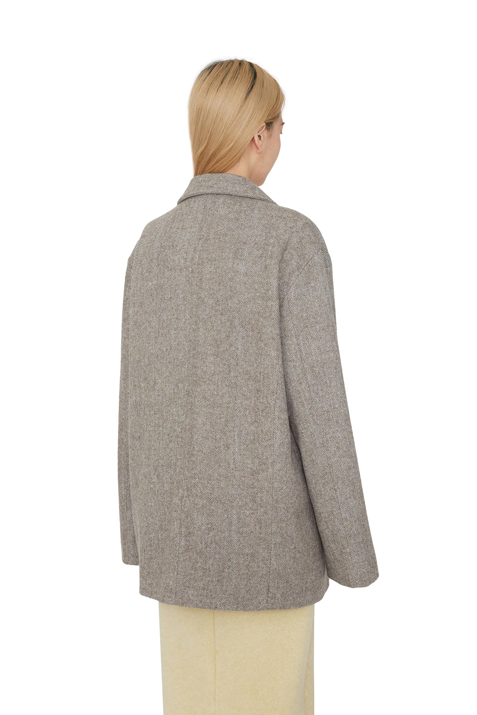 Vine unisex wool herringbone blazer