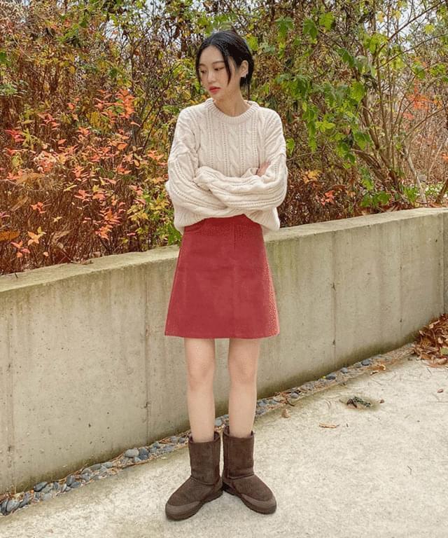 韓國空運 - Kapu Round Twisted Knitwear 針織衫