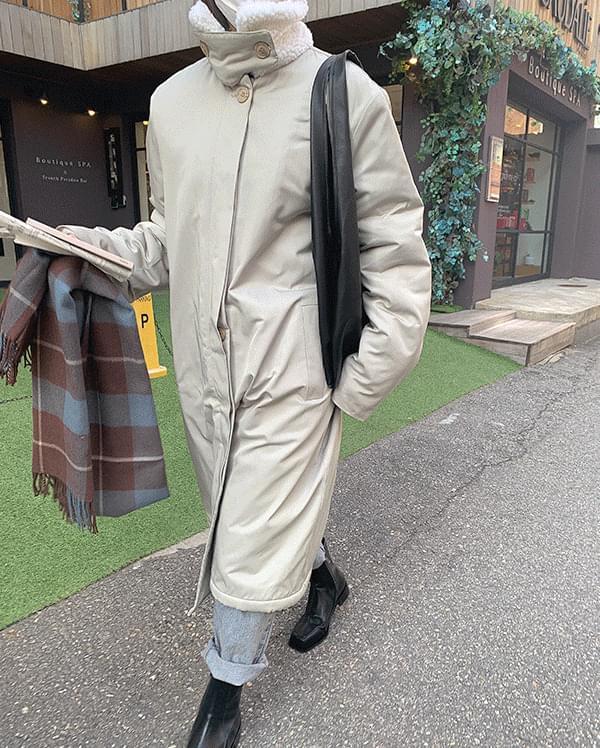 韓國空運 - #made some dumble single long padded coat 大衣外套
