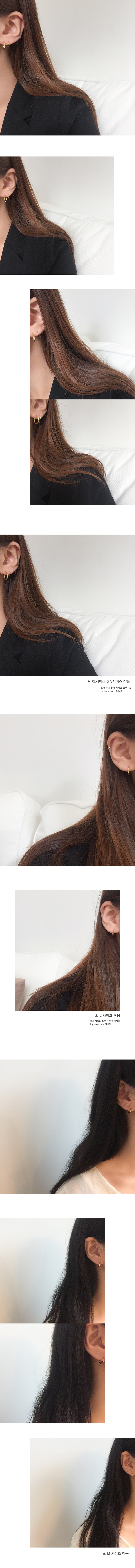 (silver925) gold onetouch earring