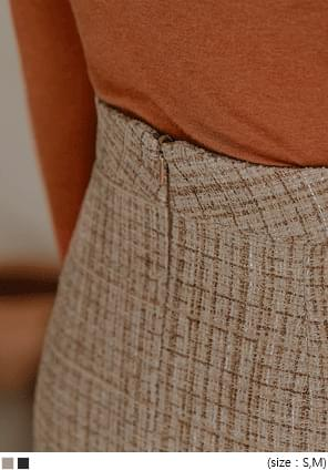 Tweed H-Line Midi Skirt