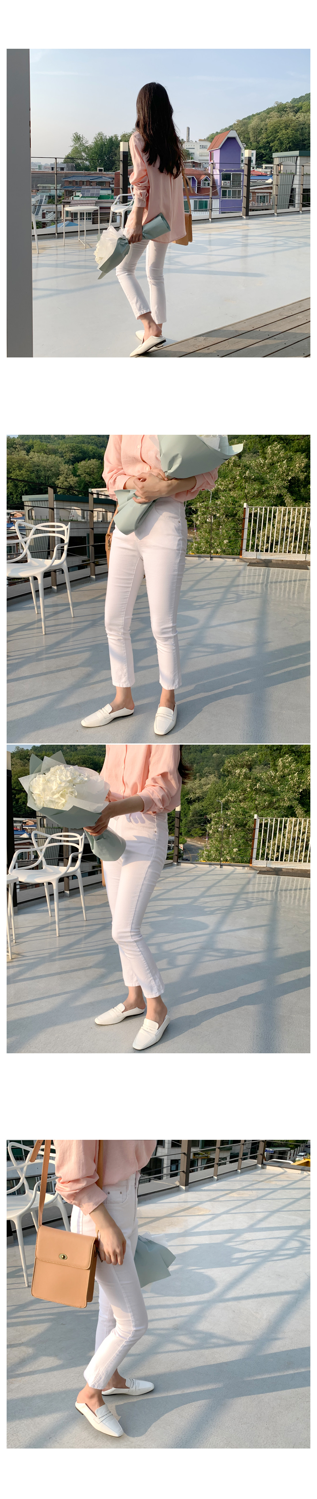 Water Summer Slim Date Pants-Ivory M, L same day delivery