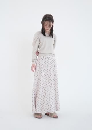 韓國空運 - pattern knit long skirt 裙子