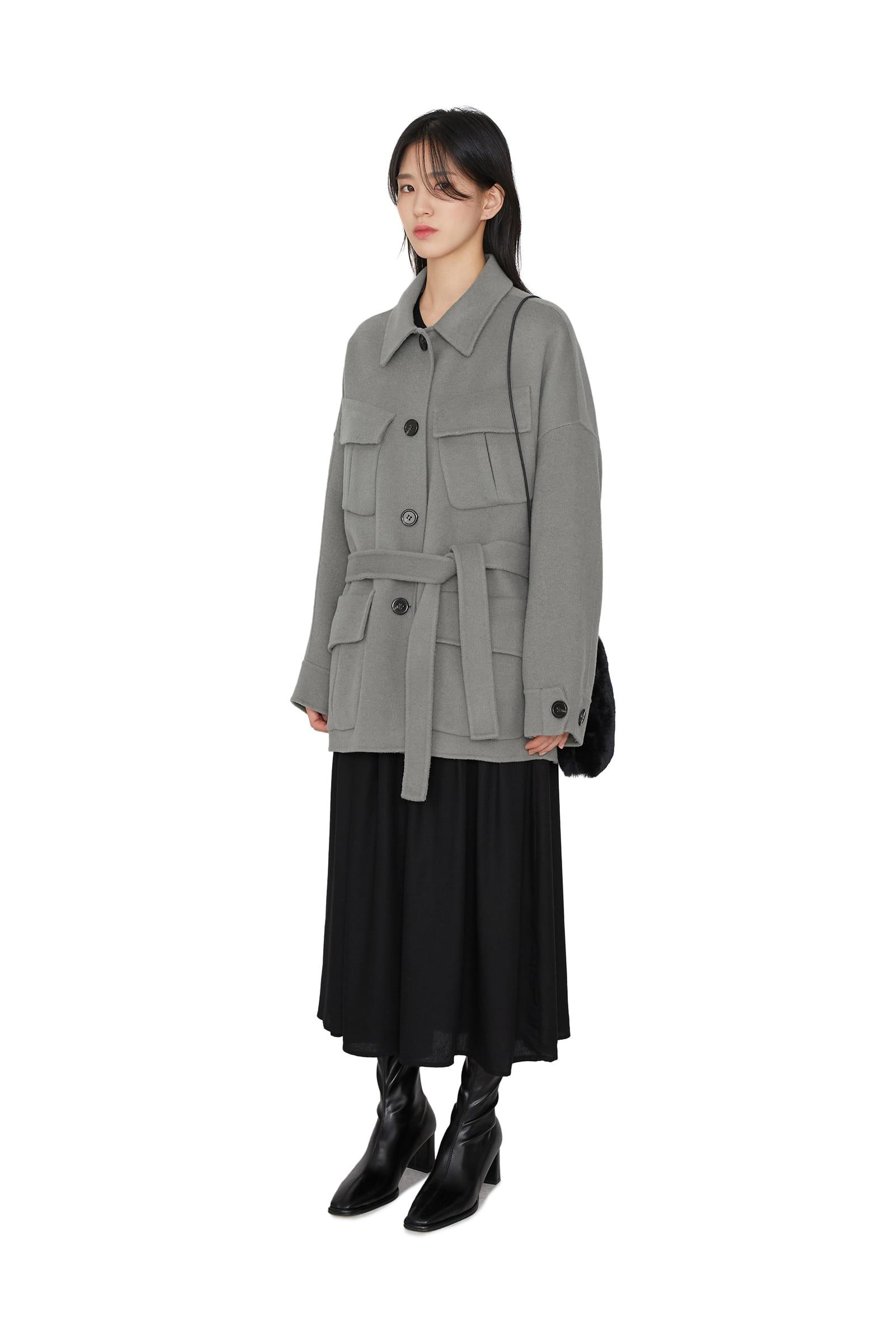 Muse pocket half coat