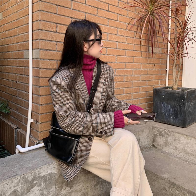 jk3221 mercy check wool jacket