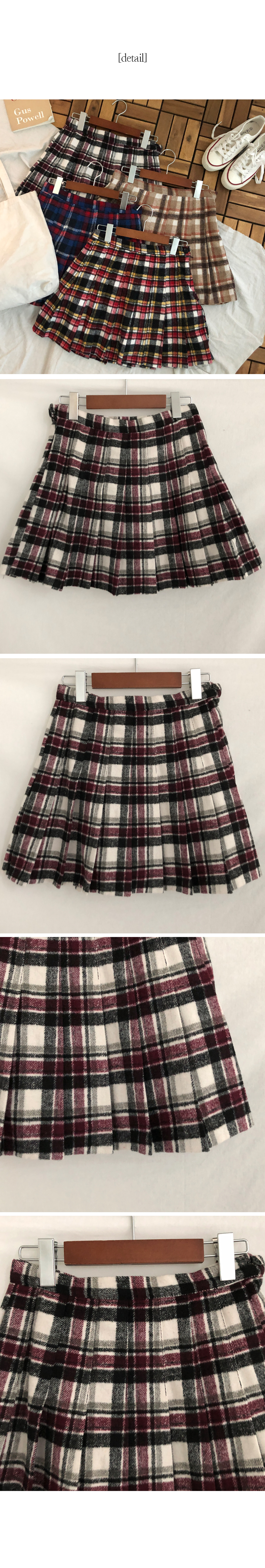 Tiny check tennis skirt