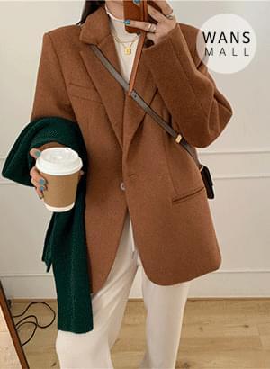 jk3365 Sweet One Button Wool Jacket