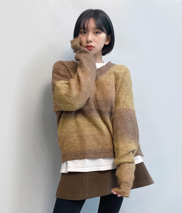 Gradient V-Neck Sweater