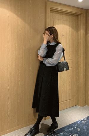 Luna box pleats dress