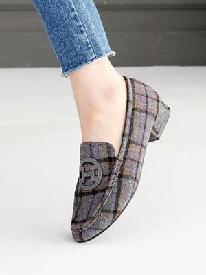 Etched fur loafers 2cm 樂福鞋
