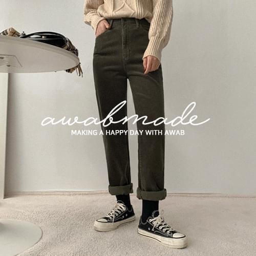 Dual corduroy pants (3color/secret banding)