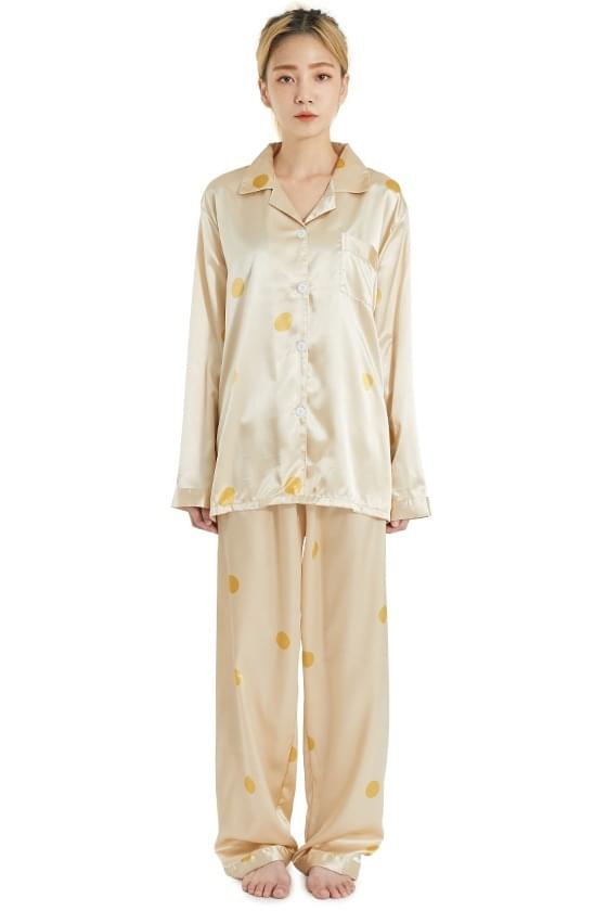 Always Silky Dot Pajama Two Piece