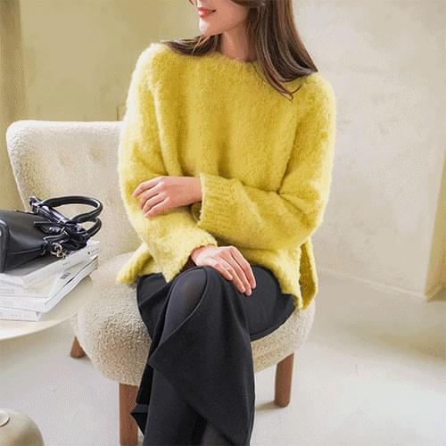 Hairy wool knit