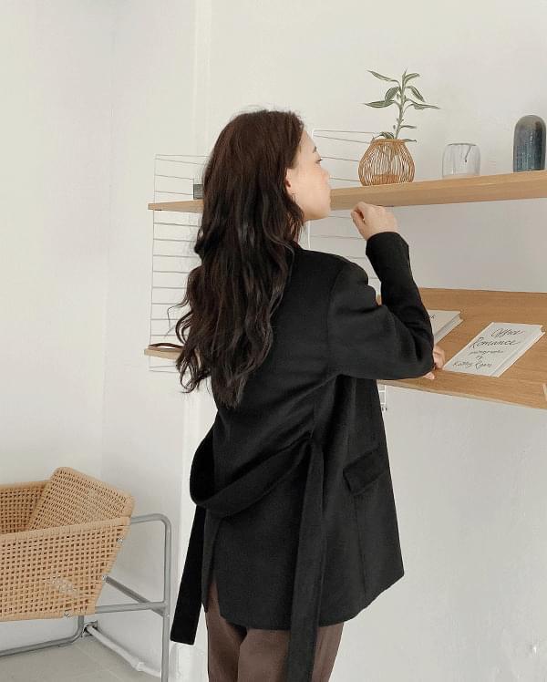 Wool daily handmade half coat