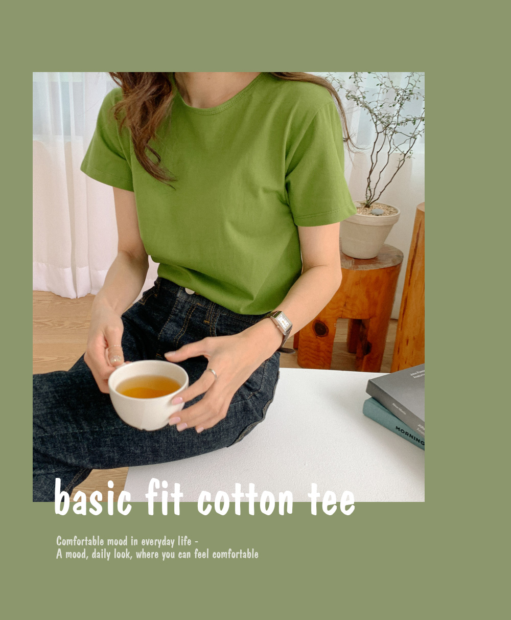 Bias Neck Daily Cotton Tea
