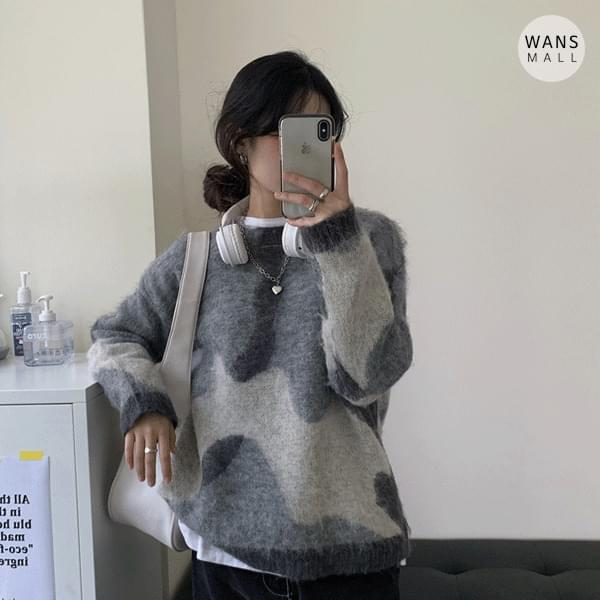 kn3222 reno round sweater (Delayed delivery)